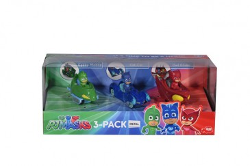 Dickie 203143000- Pjmasks / Pj Masks - -3-Pack / 3Er Set - Neu