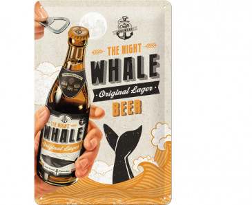 Blechschild 22220 - The Night Whale - Original Lager Beer - 20 X 30 cm -Neu