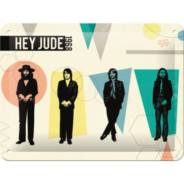 Blechschild 26218 - The Beatles - Fab4 - Hey Jude 1968 - 15X20 cm - Neu