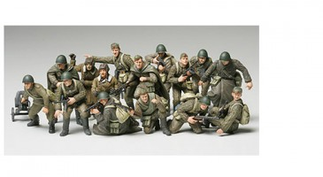 TAMIYA 32521 - 1/48 FIGUREN SET - RUSSIAN INFANTRY & TANK CREW SET - NEU