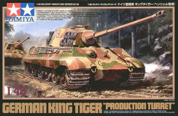 Tamiya 32536 - 1/48 WWII German King Tiger Production Turret - Neu