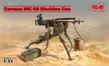 ICM 35710 - 1:35 German MG08 Machine Gun - Neu