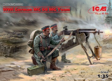 ICM 35711 - 1:35 WWI German MG08 MG Team (2 figures) (100% new molds) - Neu