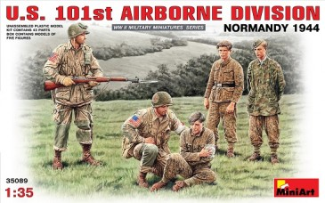 Miniart 35089 - 1/35 WWII Us 101St Airborne Division - Normandy 1944 - Neu