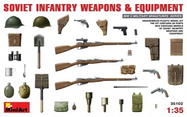 (X) Miniart 35102 - 1/35 WWII Soviet Infantry Weapons And Equipment - Neu