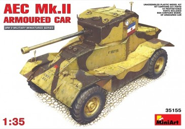 Miniart 35155 - 1/35 WWII Aec Mk. II Armoured Car - Neu
