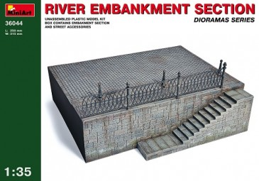 Miniart 36044 - 1/35 River Embankment Section / Hafenmauer / Anlegestelle - Neu