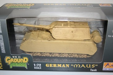 Easy Model 36206 - 1/72 WWII Deutscher Panzer Maus - War Used - Neu