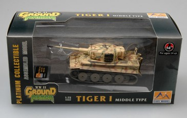 Easy Model 36215 - 1/72 WWII Dt. Tiger I (Middle) - Russland 1943 - Neu