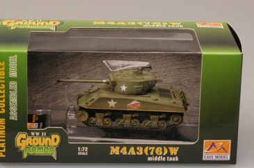 Easy Model 36260 - 1/72 Us Army - M4A3 (76)W - 37. Pzbat. 4. Armored Div. - Neu