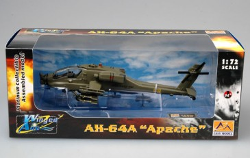 Easy Model 37025 - 1/72 Us AH-64A Apache - Ifor - Bosnien 1996 - Neu