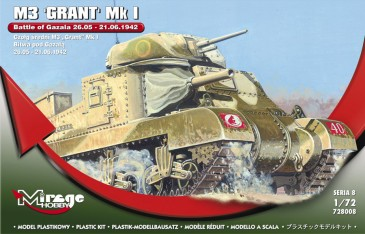 Mirage Hobby 728008 - 1:72 M3 GRANT Mk I Battle of GAZALA -21.06.42