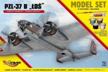 Mirage Hobby 872092 - 1:72 PZL-37 B Los (Polish Bomber Aircraft) Model Set