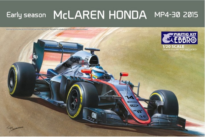 ebbro 20013 - 1/20 mclaren honda - early season mp4-30 2015 - neu