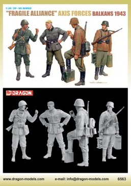 "Dragon 6563 - 1/35 WWII Figurenset ""Fragile Alliance"" Axis Forces (Balkans 1943)"