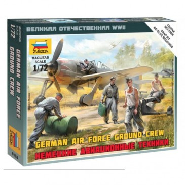 Zvezda 6188 - 1/72 Wargame Addon German Airforce Ground Crew - Neu