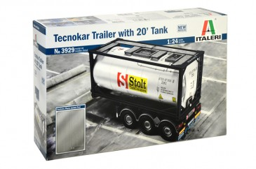 Italeri 3929 - 1/24 Tecnokar Trailer with 20tf Tank - Neu