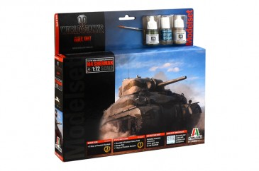 Italeri 74002 - 1/72 World Of Tanks - M4 Sherman - Komplettset - Neu