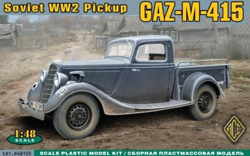 ACE 48105 - 1:48 WWII Soviet pick-up GAZ-M-415 - Neu