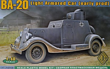 ACE 48108 - 1:48 BA-20 light armored car, early prod. - Neu