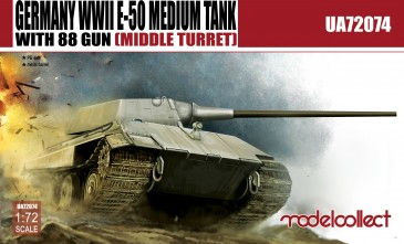 Modelcollect UA72074 - 1:72 Germany WWII E-50 Medium Tank with 88gun (middle turret)