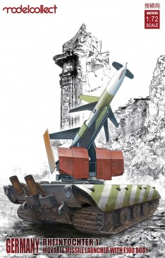 Modelcollect UA72076 - 1:72 Germany Rheitochter 1 movable Missile launcher with E100 body