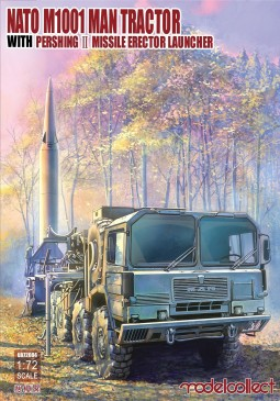 Modelcollect UA72084 - 1:72 Nato M1001 MAN Tractor & Pershing II Missile Erector Launcher