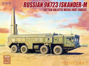 Modelcollect UA72105 - 1:72 Russian 9K720 Iskander-M Tactical ballis missile MZKT chassis