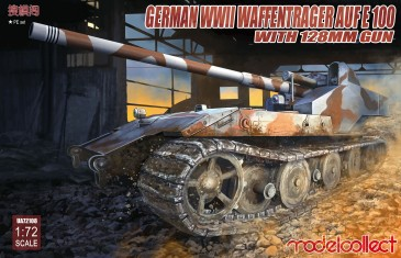 Modelcollect UA72108 - 1:72 German WWII E-100 panzer weapon carrier with 128mm gun