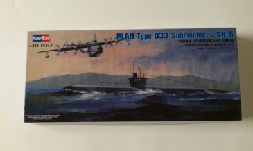 Hobbyboss 83515 - 1/350 Plan Type 033 U-Boot & Sh-5 - Neu
