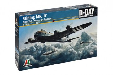 Italeri 1350 - 1/72 Stirling Mk. Iv Glider Tug - Paratroops Transport - Neu