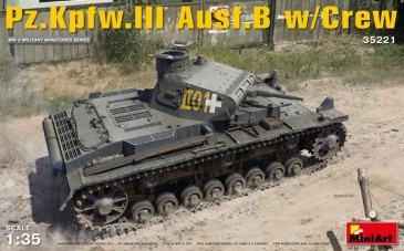 Miniart 35221 - 1/35 WWII German PzKpfw. III Ausf. B with Crew - Neu