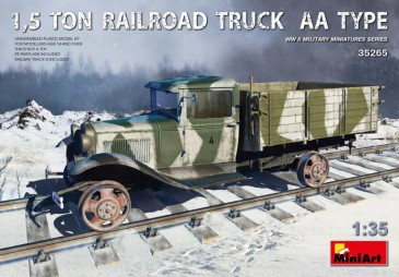 Miniart 35265 - 1/35 1,5 ton Railroad Truck AA Type - Neu