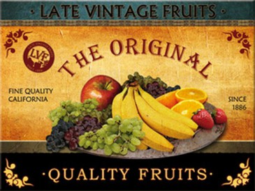 Magnet 14013 - Late Vintage Fruits - Quality Fruits - 8 X 6 cm - Neu