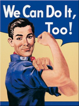 Magnet 14216 - We Can Do It , Too! - 8 X 6 cm - Neu
