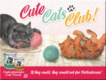 Magnet 14275 - Cute Cats Club - 8 X 6 cm - Neu
