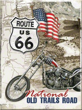 Magnet 14277 - Route 66 - Old Trails Road - 8 X 6 cm - Neu