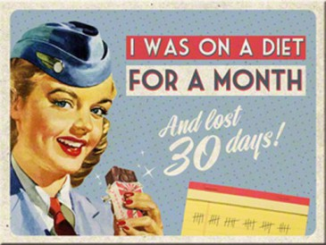 Magnet 14281 - On A Diet For A Month - 8 X 6 cm - Neu