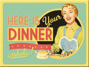 Magnet 14282 - Here Is Your Dinner - 8 X 6 cm - Neu