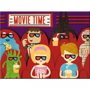 Magnet 14303 - Movie Time - 8 X 6 cm - Neu
