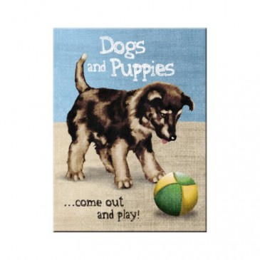 Magnet 14316 - Dogs And Puppies - 8 X 6 cm - Neu