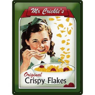 Blechschild 23106 - Mr Crickles Crispy Flakes - 30 X 40 cm