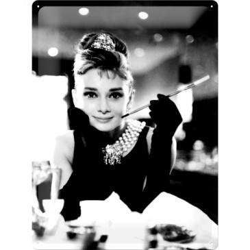 Blechschild 23165 - Audrey Hepburn - Holly Golightly - 30 X 40 cm - Neu