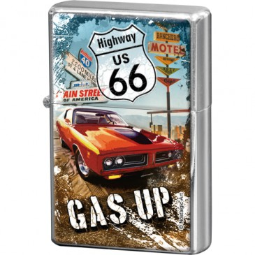 Sturmfeuerzeug / Feuerzeug 80235 - Route 66 Red Car Gas Up - Neu