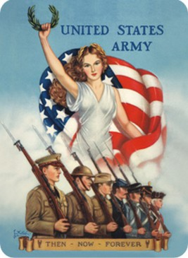 Blechschild 303/126 - Usa - United States Army - Then Now Forever - 30 X 40 cm