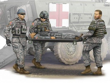 Trumpeter 00430 - 1/35 Figuren Set Modern Us Army Stretcher Ambulance Team - Neu
