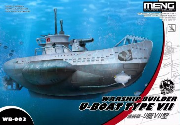 Meng-Model WB-003 - Warship Builder- U-Boat Type VII (Cartoon Model) - Neu