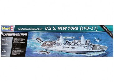 Revell 05118 - 1/350 U.S.S. New York (Lpd-21) - Platinum Edition - Neu