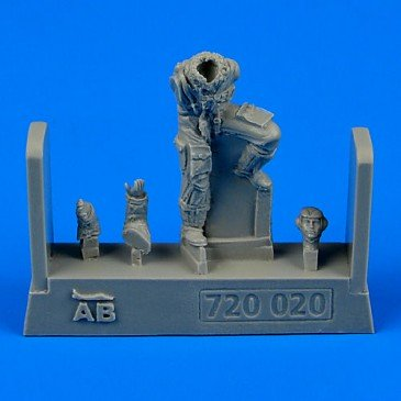 Aerobonus 720.020 - 1:72 German Luftwaffe Pilot WWII f.Bf 109 lat late version - Neu