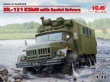 ICM 35524 - 1:35 ZiL-131 KShM with Soviet Drivers - Neu